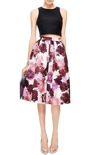 MSGM - Floral-Print Duchesse-Satin Skirt