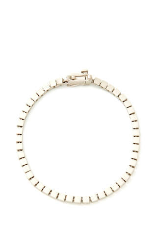 Silver Plated Mini Cube Bracelet by EDDIE BORGO Now Available on Moda Operandi