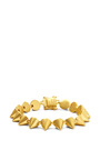 Eddie Borgo - Brushed Gold-Plated Small Cone Bracelet