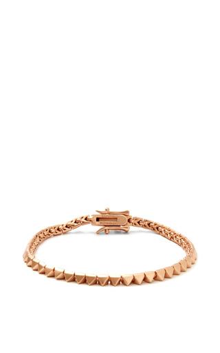 Rose Gold-Plated Pyramid Bracelet by Eddie Borgo Now Available on Moda Operandi
