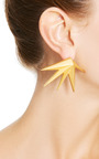 Cyprus Brushed Gold-Plated Earrings by Eddie Borgo Now Available on Moda Operandi