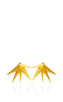 Eddie Borgo - Cyprus Brushed Gold-Plated Earrings