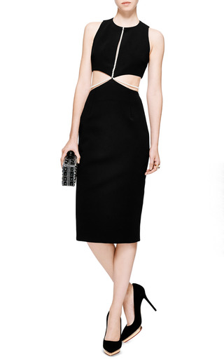Cushnie et Ochs - Power Viscose Dress with Pearls