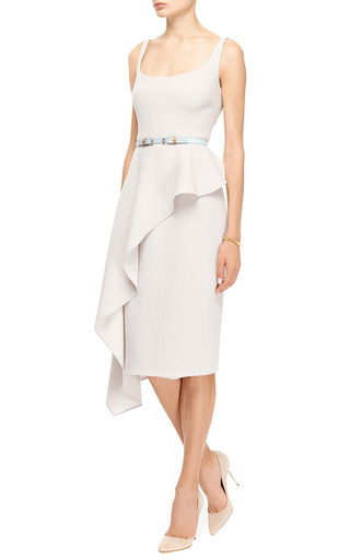 Ruffled Wool-Crepe Dress by Cushnie et Ochs Now Available on Moda Operandi