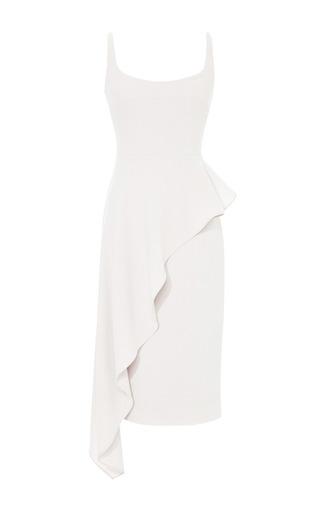 Ruffled Wool Crepe Dress by CUSHNIE ET OCHS Now Available on Moda Operandi