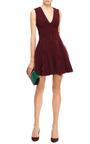 Georgette-Trimmed Jersey Mini Dress by Cushnie et Ochs Now Available on Moda Operandi