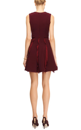 Georgette-Trimmed Jersey Mini Dress by Cushnie et Ochs for Preorder on Moda Operandi