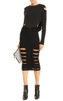 Cut-Out Rib-Kit Skirt by Cushnie et Ochs Now Available on Moda Operandi