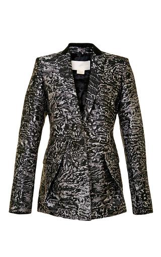 Metallic-Effect Brocade Blazer by Antonio Berardi Now Available on Moda Operandi