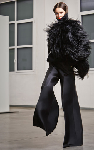 Wide Leg Silk Pants by ANTONIO BERARDI Now Available on Moda Operandi