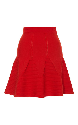 Antonio Berardi - Knit Wool-Blend Flared Mini Skirt