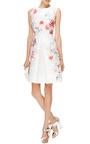 Pleated Floral Print Satin Twill Dress by GIAMBATTISTA VALLI Now Available on Moda Operandi
