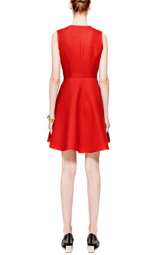 Wool and Silk-Blend A-Line Dress by Giambattista Valli Now Available on Moda Operandi