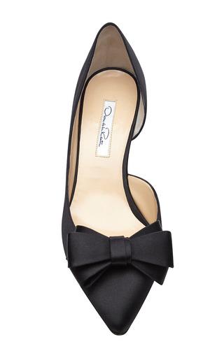 Marla Bow-Detail Satin Pumps by Oscar de la Renta Now Available on Moda Operandi