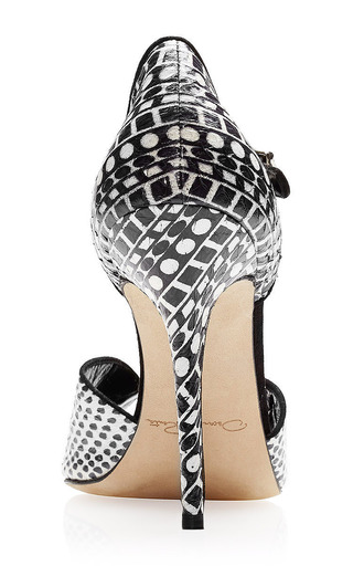 Christina Printed Snakeskin Sandals by Oscar de la Renta Now Available on Moda Operandi