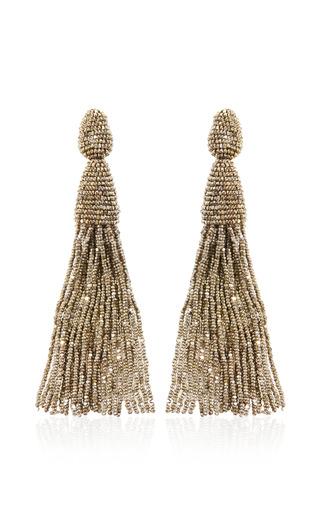 Long Tassel Earrings by Oscar de la Renta Now Available on Moda Operandi