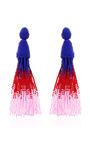 Ombre Tassel Earring by Oscar de la Renta Now Available on Moda Operandi