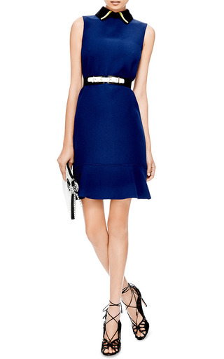 Contrast-Collar Crepe Dress by Marni Now Available on Moda Operandi