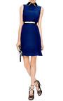 Contrast-Collar Crepe Dress by Marni Now Available on Moda Operandi