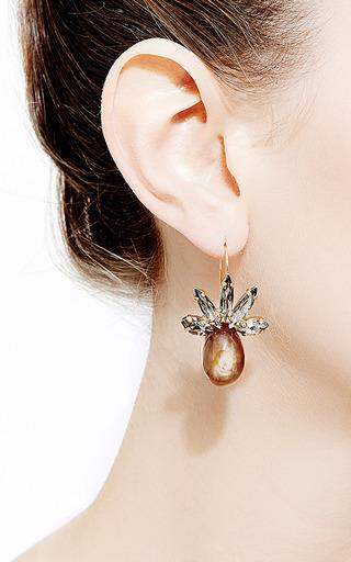 Marni - Crystal and Horn Drop Earrings