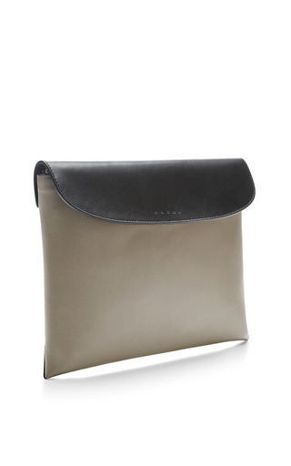 Two-Tone Leather Clutch by Marni Now Available on Moda Operandi