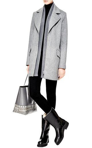 Flat Leather Boots by MARNI Now Available on Moda Operandi