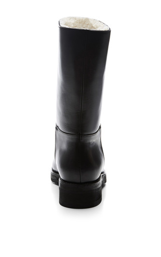 Flat Leather Boots by Marni for Preorder on Moda Operandi