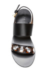 Embellished Satin Wedge Sandals by Marni Now Available on Moda Operandi