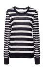 Equipment - Shane Striped Silk Sweater