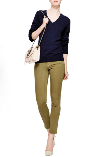 Cecile Cashmere V-Neck Sweater by Equipment Now Available on Moda Operandi