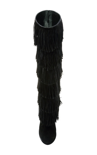 Paul Andrew - Tara Knee-High Fringed Suede Boots