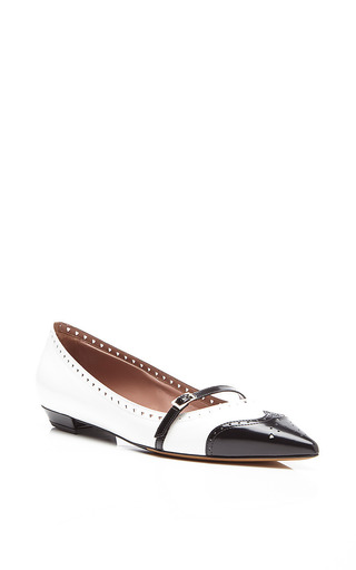 Belfy Leather Spectator Flats by Tabitha Simmons Now Available on Moda Operandi