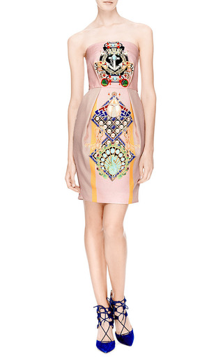 Olympia Printed Silk and Cotton-Blend Dress by Mary Katrantzou Now Available on Moda Operandi