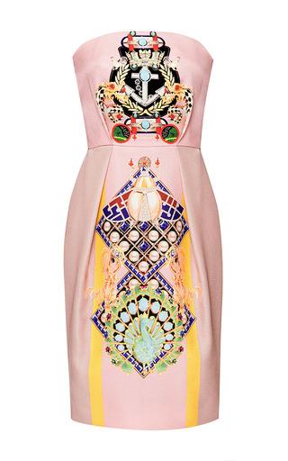 Olympia Printed Silk and Cotton-Blend Dress by Mary Katrantzou Now Available on Moda Operandi