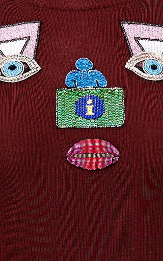 Mary Katrantzou - Embroidered Wool Sweater
