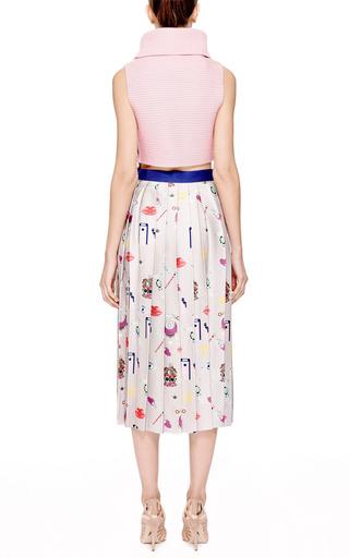 Vaya Printed Pleated Satin-Twill Midi Skirt by Mary Katrantzou Now Available on Moda Operandi