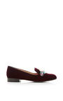 Scott Emblem Embroidered Velvet Loafers by Mary Katrantzou Now Available on Moda Operandi