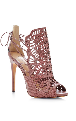 Cut-out python sandals by ALEXANDRE BIRMAN Available Now on Moda Operandi