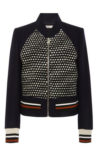 Wool-Flannel and Tweed Jacket by Bouchra Jarrar Now Available on Moda Operandi