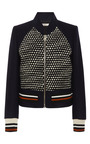 Wool-Flannel and Tweed Jacket by Bouchra Jarrar Now Available on Moda Operandi