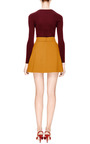 Crepe A-Line Mini Skirt by DELPOZO Now Available on Moda Operandi