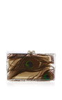 Peacock Pandora Perspex Clutch by Charlotte Olympia for Preorder on Moda Operandi