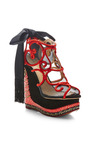 Charlotte Olympia - The Great Wedge Of China Embellished Platform Wedge Sandals