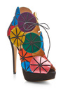 Parasol Satin and Suede Platform Sandals by Charlotte Olympia Now Available on Moda Operandi
