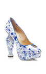 Koi Printed Patent-Leather Platform Pumps by Charlotte Olympia Now Available on Moda Operandi