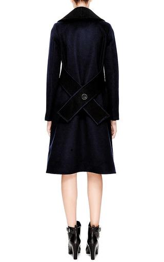 Crochet-Collared Wool-Blend Coat by Derek Lam Now Available on Moda Operandi