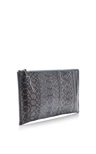 Rochas - Zip-Top Snakeskin Clutch