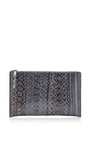 Zip-Top Snakeskin Clutch by Rochas Now Available on Moda Operandi