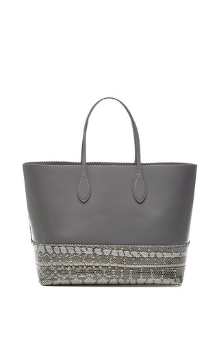 Large Snakeskin And Leather Tote by ROCHAS Now Available on Moda Operandi