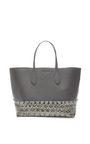 Rochas - Large Snakeskin and Leather Tote